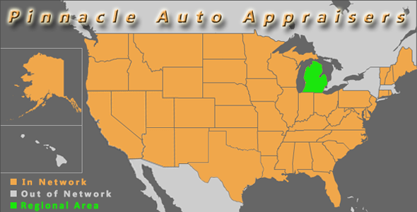map michigan pinnacle auto appraiser appraisal diminished value